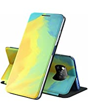 ESONG Samsung Galaxy A12 Hoesje,Premium PU Lederen Flip Cover Telefoonhoesje met Kaartsleuven, Stand Functie, magnetische telefoonhoesje, voor Samsung Galaxy A12-herfstbladeren