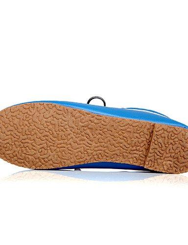 Njx Njx Njx Hug Damen Schuhe Kunstleder Flach Ferse Mary Komfort Oxford Outdoor Casual Schwarz Blau Gelb Weiß B01KHBRRB6 Schnürhalbschuhe Eleganter Stil d9d9d8