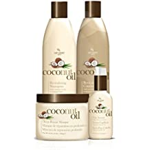 Coconut Oil Hair Care 4 Piece Set - Revitalize And Nourish Dry Or Damaged Hair.