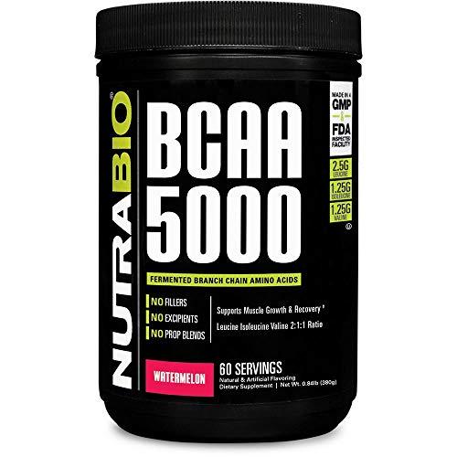 NutraBio BCAA 5000 Powder - 60 Servings (Watermelon)
