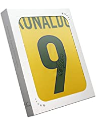 Ronaldo de Lima Signed 1998-00 Brazil Home Soccer Jersey In Gift Box | Autographed Jersey