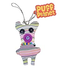 "Puff Planet Button-Eyed Stitch Doll Charm with Keychain and Lanyard Clip- ""Bobo"", Little Creature Who Will Be Your Pal, Cool Kids Keychain, Kids Charm, Small Gift, Cheap Fun."