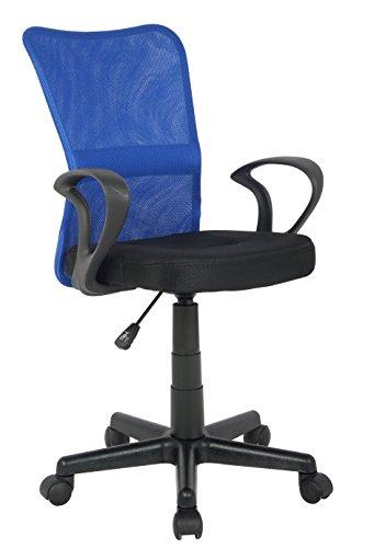 SixBros. Silla de Oficina Silla giratoria Azul/Negro - H-298F-2/2120