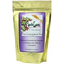 Herb Lore Organic Fertility Tea, 60 Servings, Caffeine Free, Natural Herbal Fertility Blend to Boost Female Fertility and Support Hormone Balance in Women