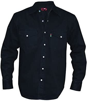 mens black denim shirt mediun clothing