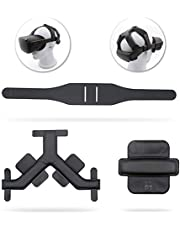 AMVR Headband Strap, Gravity Pressure Balance Cushion Leather Foam Pad for Oculus Quest 1 Headset Accessories with Comfortable Soft Sets