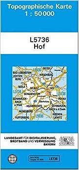TK50 L5736 Hof: Topographische Karte 1:50000 TK50