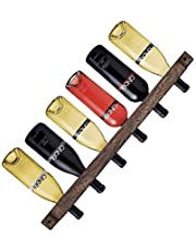 MITIME Wall Series Wine Rack , Floating Wine Shelf Wall Mounted Paulownia Wood Wine Rack,Country Style, Simple and Fashionable (for 6 Bottles)