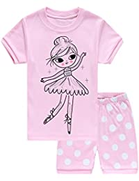 Girls Pajamas Little Kid Sleepwears Set 100% Cotton Pjs...