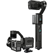 REMOVU S1 Gimbal Stabilizer Ultimate bundle pack with 2 extra batteries (total 3 included) and Rainproof housing set