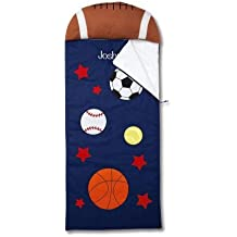 Sports Personalized Kids' Sleeping Bag with Pillow - boys' indoor sleeping bag