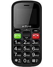 Grote knop mobiele telefoon voor ouderen, Artfone CS181 verbeterde GSM mobiele telefoon met SOS-knop, sprekend nummer en zaklamp
