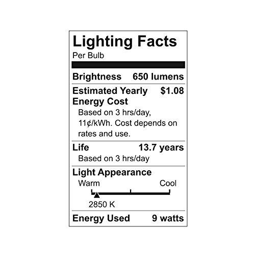 GE Lighting 98877 LED Reveal 9 (60-watt Replacement), 650-Lumen A19 Light Bulb with Medium Base, 2-Pack