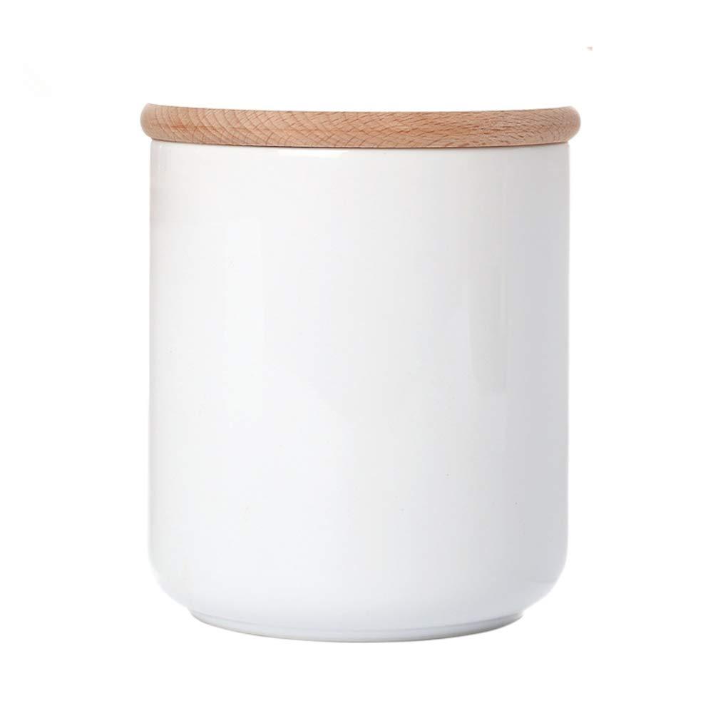OnePine 3er Set Vorratsdosen Keramik mit Buche holz deckel Vorratsdose Vorratsdose Vorratsdose Kaffeedose Teedose - Weißes Porzellan Aufbewahrungsdosen für Tee Kaffee Bohne Zucker Gewürz Nüsse Korn B07M8WRLJ7 Kaffeedosen 0066b3