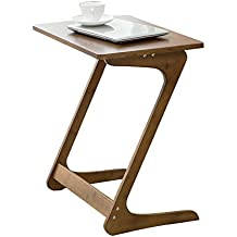 Sofa Table TV Tray Super Top Laptop Desk Removable Side/Snack/End Table for Bed Sofa Eating Writing Reading Living Room-Walnut