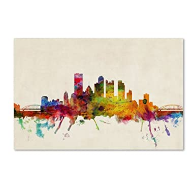 Trademark Fine Art Pittsburgh, Pennsylvania by Michael Tompsett Canvas Art, 22 by 32-Inch