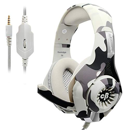 Cosmic Byte GS410 Headphones with Mic and for PS5, PS4, Xbox One, Laptop, PC, iPhone and Android Phones (Camo Grey)