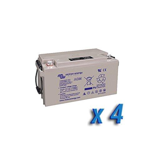 Victron Energy - Set 4 x Batterie 220Ah 12V AGM Deep Cycle Victron Energy Photovoltaïque Camper - BAT412201084x4