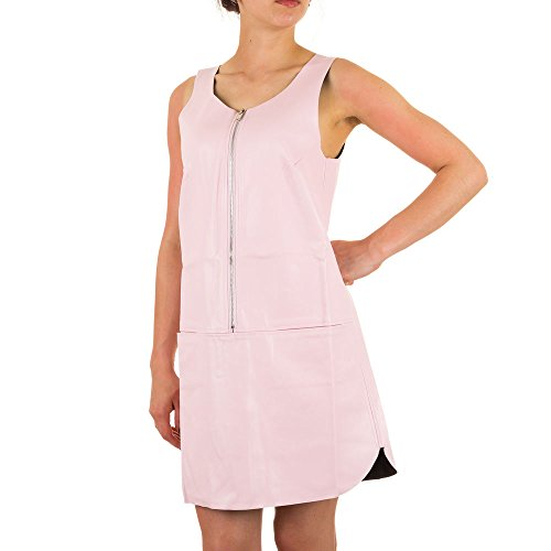 Damen Kleid, JCL LEDEROPITK MINI KLEID, KL-57161 Rosa