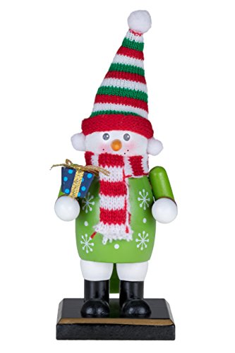 s Snowman Nutcracker by Clever Creations | Holding Gift | 6