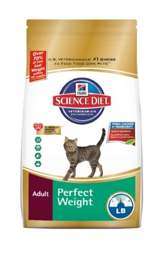 Hills Science Diet Perfect Weight Dry Cat Food 15Pounds