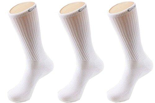Calvin Klein Men's 3 Pack Athletic Crew Socks, White, Sock Size: 10-13/Shoe (Calvin Sport Socks)