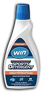 WIN Sports Detergent - Performance Wash for High-Tech Synthetic Sports Fabrics and Athletic Wear (1 32oz Bottle, Blue)