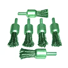 Canadian Tool and Supply (6-Pack) Shaft Mounted 3/4-Inch Knot End Wire Brush (6xKEB-19)