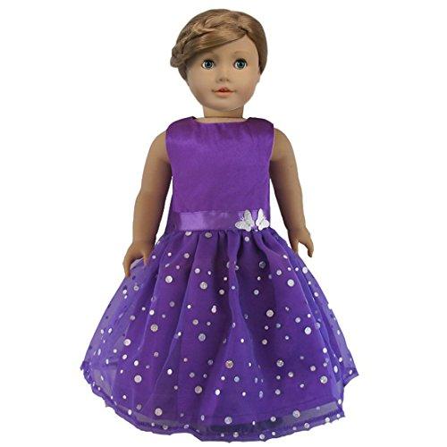 Ebuddy Fashion Butterfly Doll Dresses Fits 18 Inch Doll
