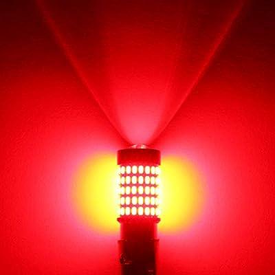 Phinlion 1157 LED Brake Light Bulbs 2800 Lumens Super Bright 3014 103SMD 2057 2357 7528 BAY15D LED Bulb for Turn Signal Blinker Tail Stop Lights, Red: Automotive