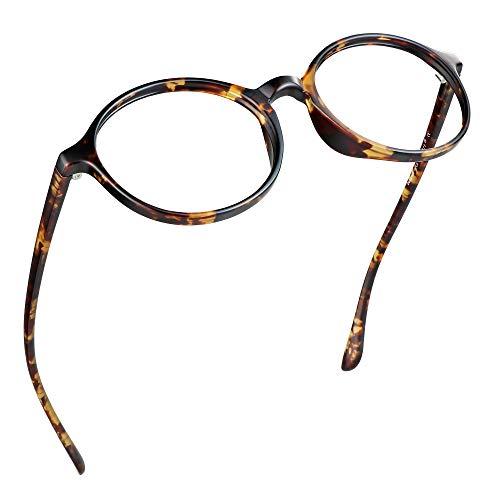 LifeArt Blue Light Blocking Glasses, Anti Eyestrain, Computer Reading Glasses, Gaming Glasses, TV Glasses for Women Men, Anti Glare (Tortoise, No Magnification)