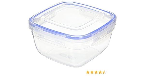 Alpfa Cuadrado Caja de Almacenamiento para Alimentos, de plástico, Color Blanco, 900 ml: Amazon.es: Hogar