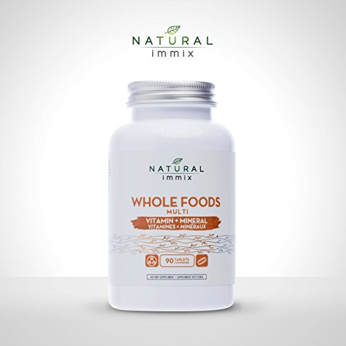 Natural immix - Whole Foods Multi, Complete Blend of Vitamins and Minerals, Formulated with Greens, Superfoods, Vegetables and Fruits, 90 Tablets