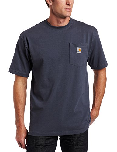 Carhartt Men's Workwear Pocket Short Sleeve T-Shirt Original Fit K87,Bluestone,2X-Large by Carhartt