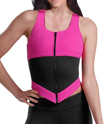 YIANNA Womens Waist Trainer Vest Zipper Sweat Sauna Suit Tank Top Hourglass Slimming Body Shaper