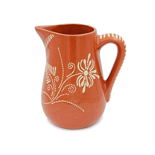 Portuguese Pottery Glazed Terracotta Hand Painted Wine Regional Pitcher (N4. 12 Cups - 2.8 Lts.)