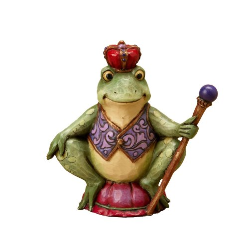 Jim Shore Frog - Enesco Jim Shore Heartwood Creek Mini Frog with Crown, 3-Inch