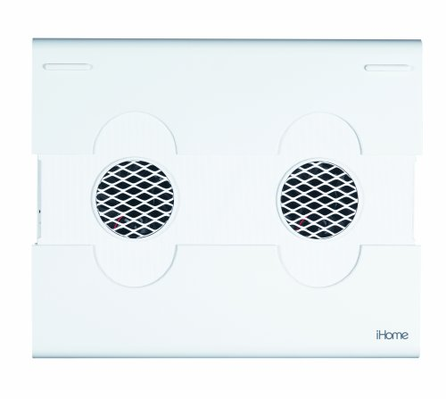 (iHome  Notebook Cooling Pad with 2 Built-in Fans - White (IH-A701CW))