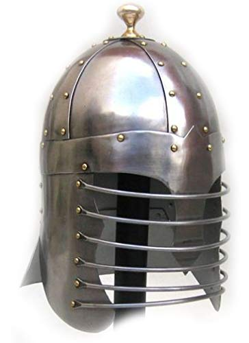 (Armor Full Knight Solaire Helmet Crusader Roman Centurion Costumes Chainmail Full Size Coif Armor LARP Medieval Collectibles Medieval Sword Collection (Prince of)