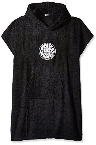 Rip Curl Men's Wet AS Hooded Towel, Black, One Size ()