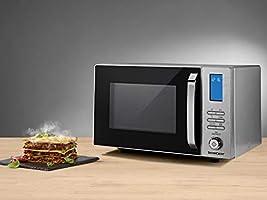 SILVERCREST® Microondas SMW 800 E1 (calidad original resistente) con parrilla y 10 prácticos programas automáticos; versátil – para calentar, cocer, descongelar, asar y hornear: Amazon.es: Grandes electrodomésticos