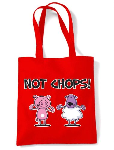 Shoulder Chops Vegetarian Not Chops Tote Red Bag Not f7xXqwEqU