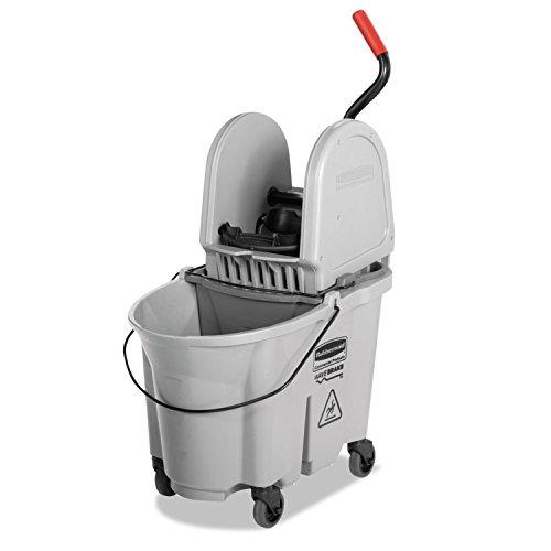 Executive Wavebrake Down-Press Mop Bucket, Gray, 35 Quart, New