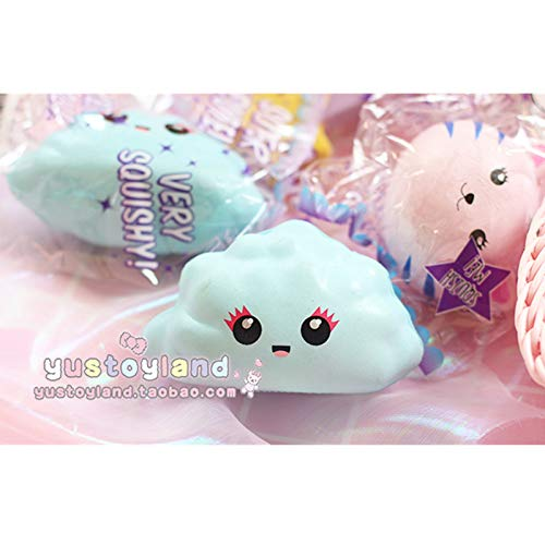 1 piece Horn Horse Cat Face Emoji Cloud Rainbow Star Squishy Slow Rising Cute Soft Squeeze Strap Scented Cake Bread Kid Toy Fun Gift