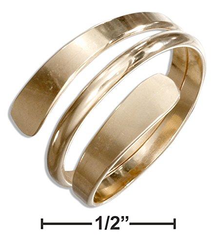 12 Karat Gold Filled High Polish Wrap Around Bypass Ring (size 08) High Polish Bypass Ring