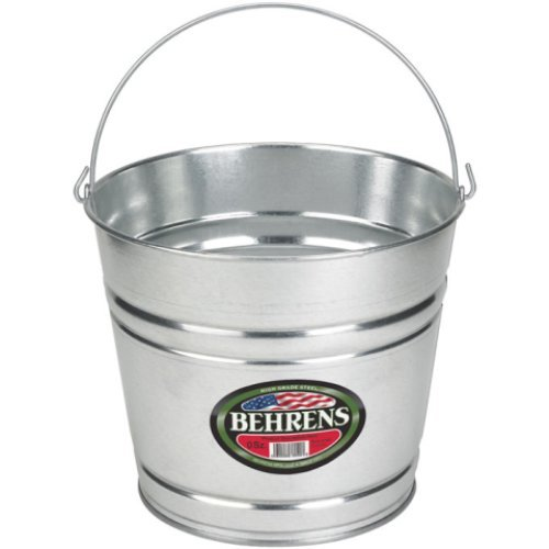 Behrens 1210GS 10-Quart Galvanized Steel Pail]()