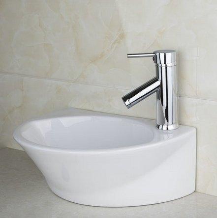 GOWE Single Handle Deck Mount Chrome Basin Faucet Torneira+Bathroom Sink Ceramic WashBasin Sink Faucet Mixer Tap 1