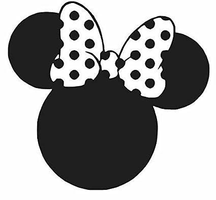 Amazoncom Minnie Mouse Ears Black Car Truck Vinyl Decal Art Wall