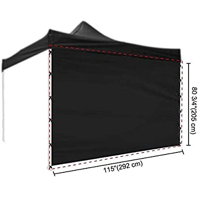 ZBYZF 10x10 Ft EZ Pop Up Canopy Tent Side Wall Party Tent Sun Shelter Wall Sidewall Oxford (Color : Black): Garden & Outdoor