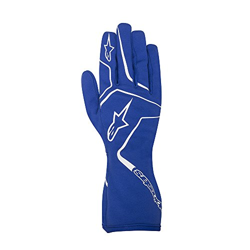 Alpinestars 3552717-70-XL YTH TECH 1-K RACE GLOVES, BLUE, SIZE XL (PR)